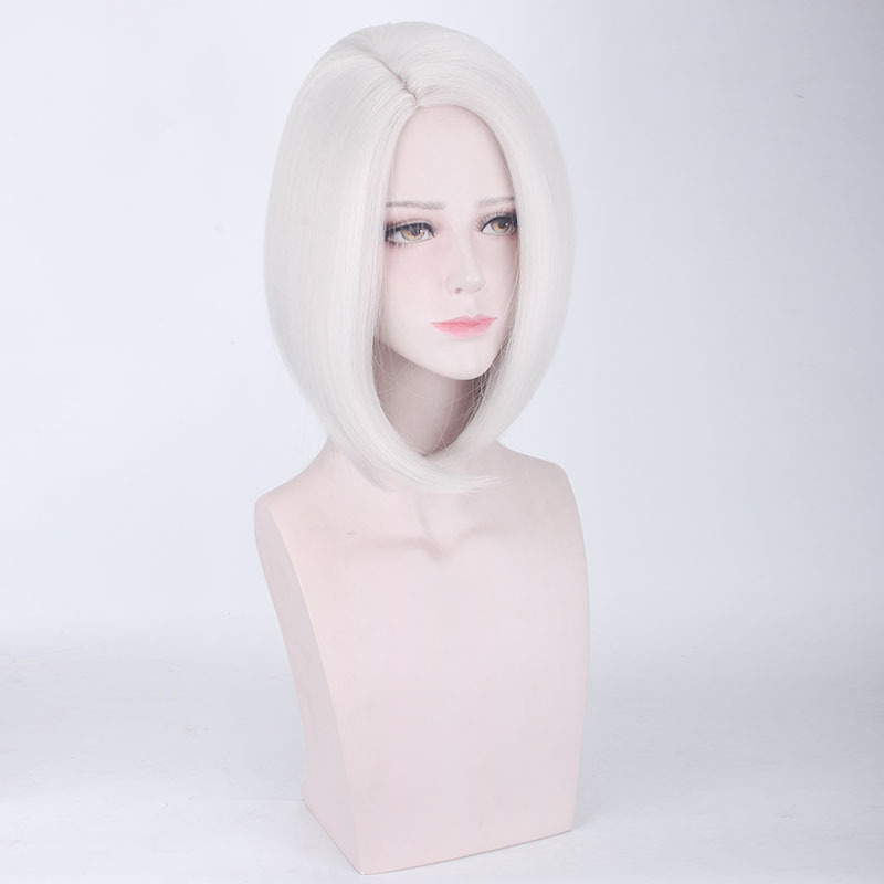 Overwatch Ashe Cosplay Wigs Women Sliver Hair Cosplay Props for Show