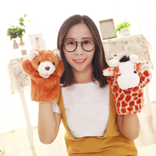 28cm Kawaii Animal Plush Hand Puppet Doll Toys Pig Cat Monkey Dog Rabbit Puppet Baby Children Kid Animal Hand Glove Puppets Toy