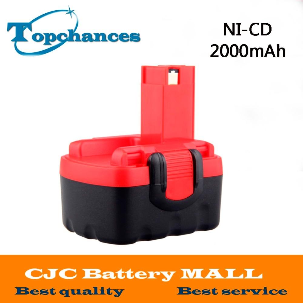 14.4V 2000mAh Ni-CD Cordless Rechargeable Battery for Bosch 26156801 3610-K10 3610K 3612 3615K PSR 14.4 VES-2 1314702 1400656 1400671 130224010 battery for ryobi 14 4v ni cd 2 0ah rechargeable power tool battery t40