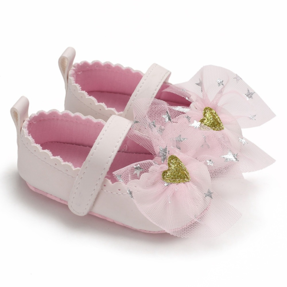 Baby Girls Toddler Infant First Walkers Spring Soft Sole Non-Slip PU Princess Casual Shoes With Bowknot 0-18M New