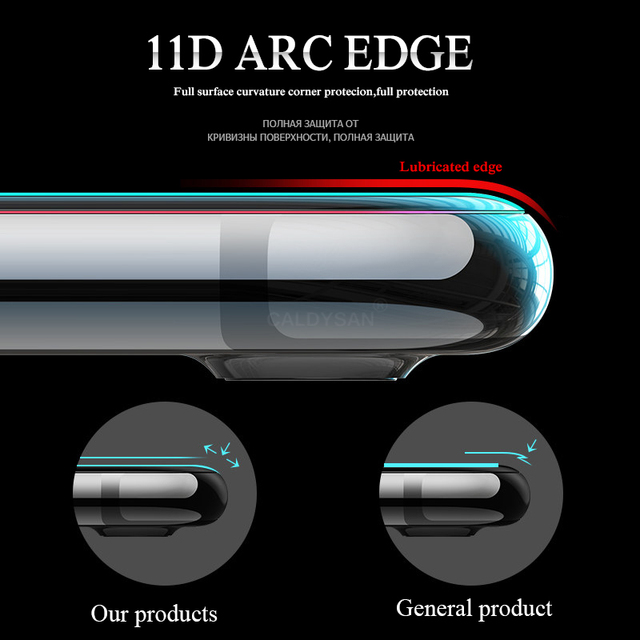 11D Curved Edge Protective Glass on the For iPhone 7 8 6 6S Plus Tempered