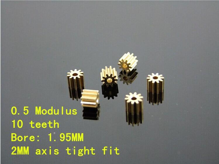 102A tembaga gigi, 0.5 modulus tinggi memakai logam poros gigi, Gigi aperture 2 MM Model DIY mainan aksesoris