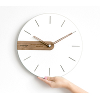 Digital Clock Wall Wood Modern Design Kitchen Clock Silent Bedroom Electronic Wall Watches Home Decor 3D Nordic Design Antik 4B5