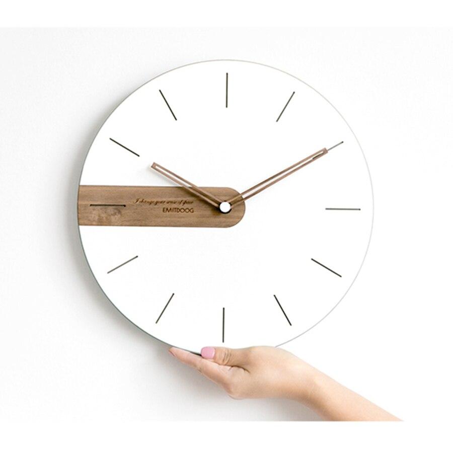 Digital Clock Wall Wood Modern Design Kitchen Clock Silent Bedroom Electronic Wall Watches Home Decor 3D Nordic Design Antik 4B5