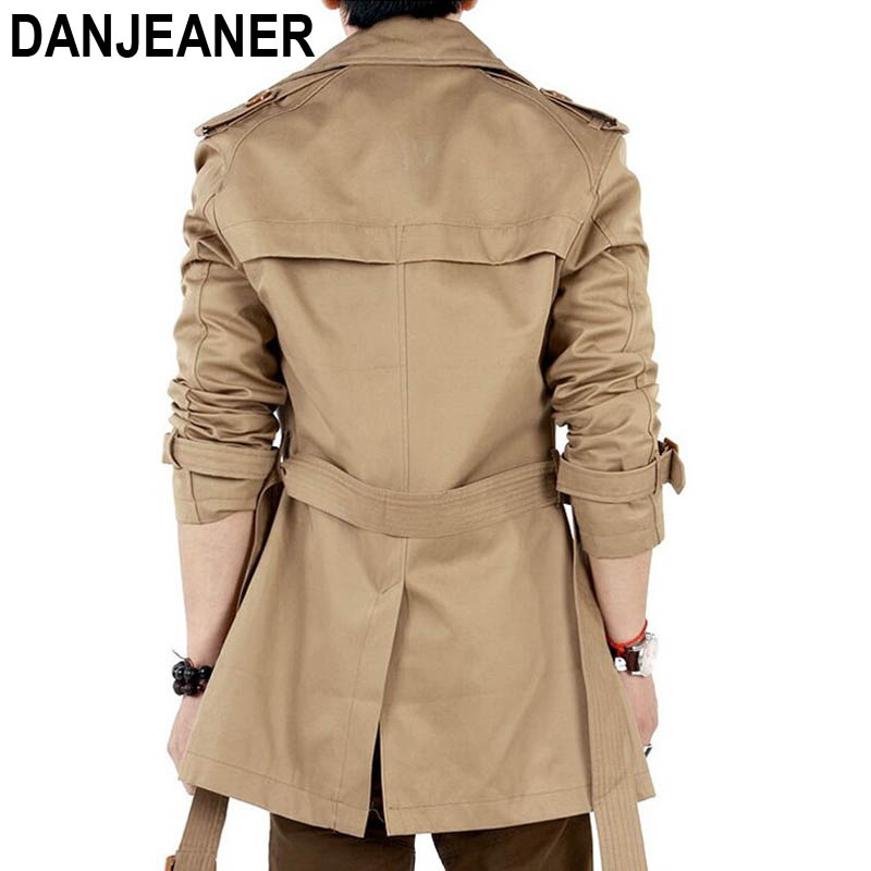 AOWOFS Clothing Trench Mens