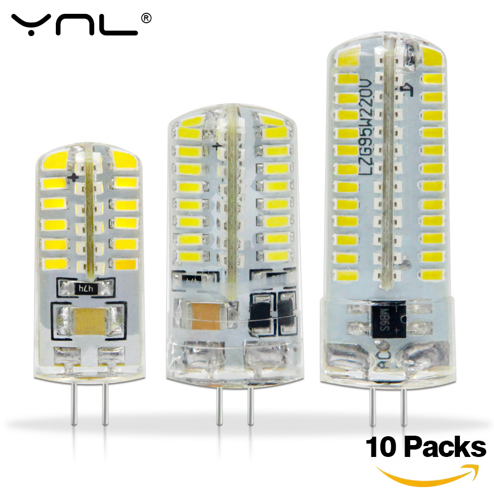 10PCS G4 Led Lamp DC 12V 220V 1w 2w 3w SMD 2835 3014 Angle Luz Bombillas Lampada De LED Lamp G4 Light Corn Bulb Spotlight Lamps