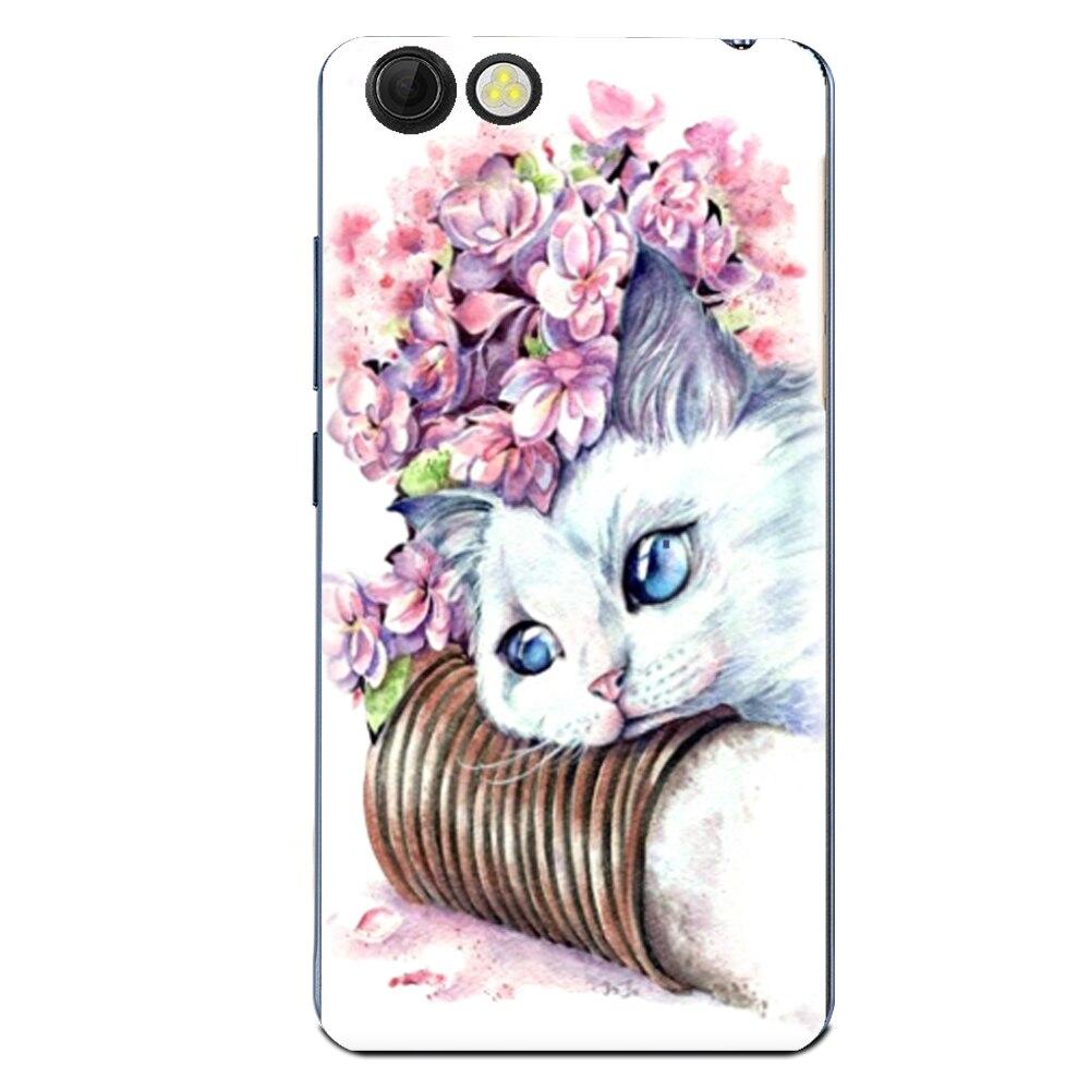 Floral Sleepy Darling Baby Cat Animal Case For Prestigio Muze E3 PSP3531 DUO Back Cover Bag TPU Cases
