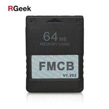 משלוח McBoot FMCB 1.953 עבור Sony Playstation2 PS2 8 MB/16 MB/32 MB/64 MB זיכרון כרטיס משחק שומר כרטיסי OPL MC אתחול נתונים מקל מודול