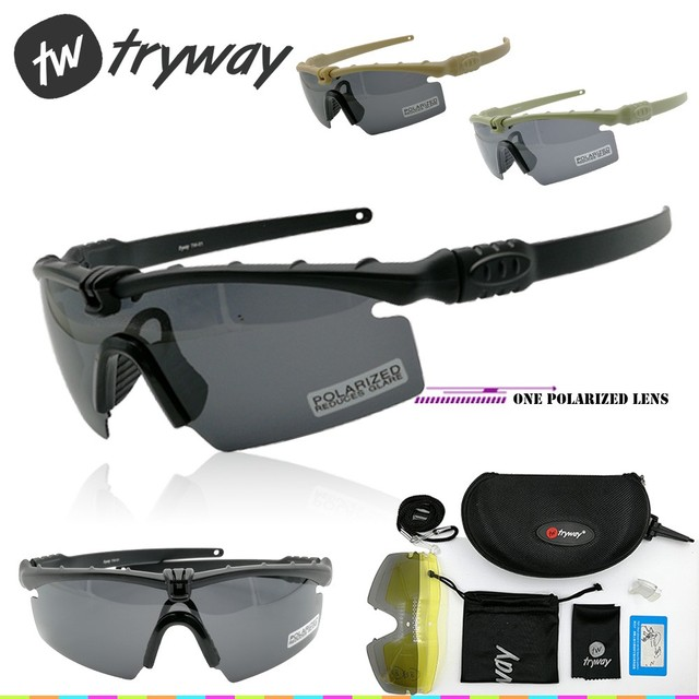017fdcee02 Tryway Army BALLISTIC 3.0 goggles Protection Military glasses paintball shooting  goggles Tactical TR90 Polarized men sunglasses