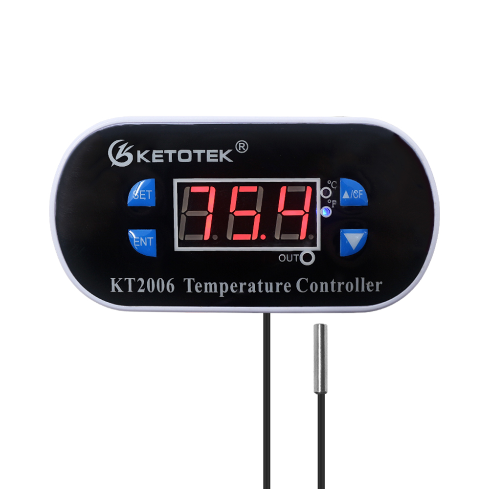 KT2006 110-220V Digital Thermostat Temperature Controller Direct Output Incubator Thermostat Regulator With Heater And Cooler