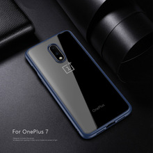 For OnePlus 7 Pro Case Anti-knock Transparent Acrylic Reinforced TPU Original RIJOW Soft Silicone cover One Plus 7 Pro Coque 1+7