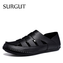 SURGUT Classic Men Soft Sandals Comfortable New Men Summer C