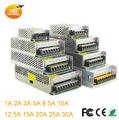 AC 110 V-220 V para DC 12 V 24 V 5 V 1A 2A 5A 8A 10A 15A 20A 30A 50A 60A Transformador Interruptor de Alimentação Adapter Driver Para Tira Conduzida