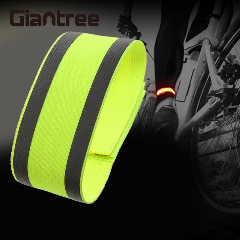 Giantree Outdoor Sports Bicycle Night Running Bike Safety Reflective Arm Band Belt Reflective Material Strap