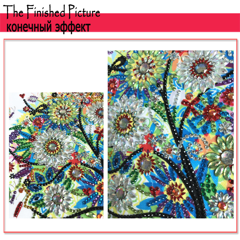 RUBOS DIY 5D Diamond Embroidery Colorful Tree Butterfly Bead Diamond Painting Cross Stitch Pearl Crystal Sale Hobby Gift Decor (13)
