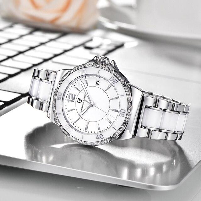 שעון קלאסי מרשים לנשים עם רצועת מתכת 10