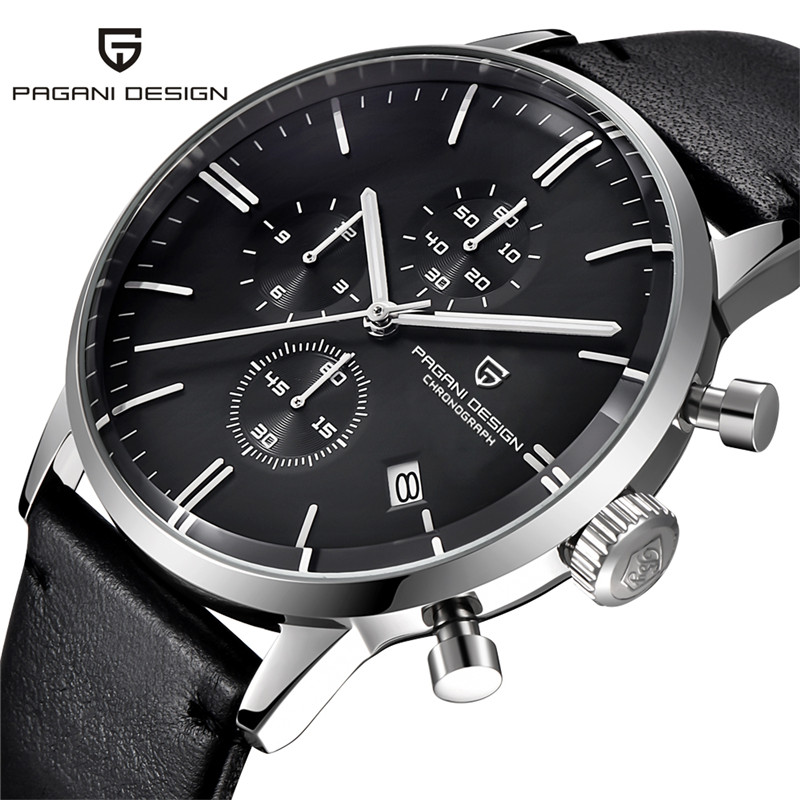 PAGANI DESIGN Watches Men Luxury Brand Multifunction Quartz Men Chronograph Sport Military Watch Vogue Leather Relogio Masculino pagani design business casual leather men s watches fashion sport utility chronograph military watches relogio masculino 2016