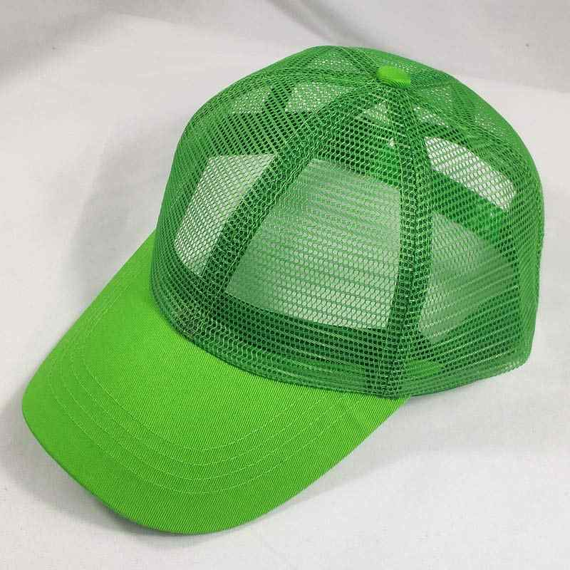 74595a2ac7cf90 Men Women Adjustable Basic Full Mesh Trucker Hat Baseball Cap Snapback 6  Panel Orange Green Blue