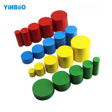 Montessori Educational Wooden Toys For Children Cylinders Montessori Wooden 4 Sets of 5 Great Family Version