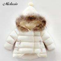 Melario Girls Winter Coat 2019 New Winter Parkas Winter Jacket for Girls Solid Color Baby Jacket Fur Hooded Kids Outerwear