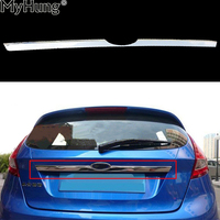 Sticker ABS Chrome Rear Trim Rear Trunk Trim For FORD FIESTA hatchback 2009 To 2013 Car Styling Auto Accessories