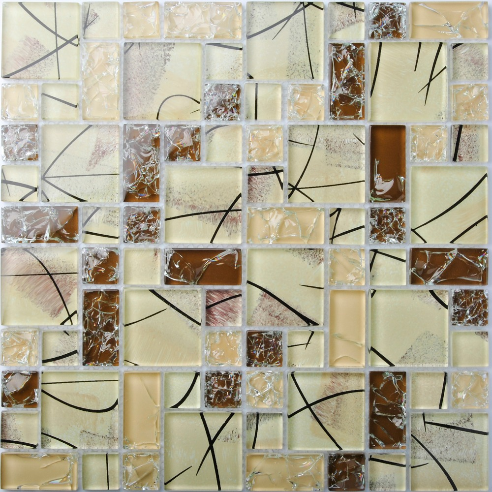 Tst crystal glass tiles brown mosaic glass tile interior crackle tst crystal glass tiles brown mosaic glass tile interior crackle artistic design for bathroom kitchen backsplash tiles wall deco on aliexpress alibaba dailygadgetfo Images