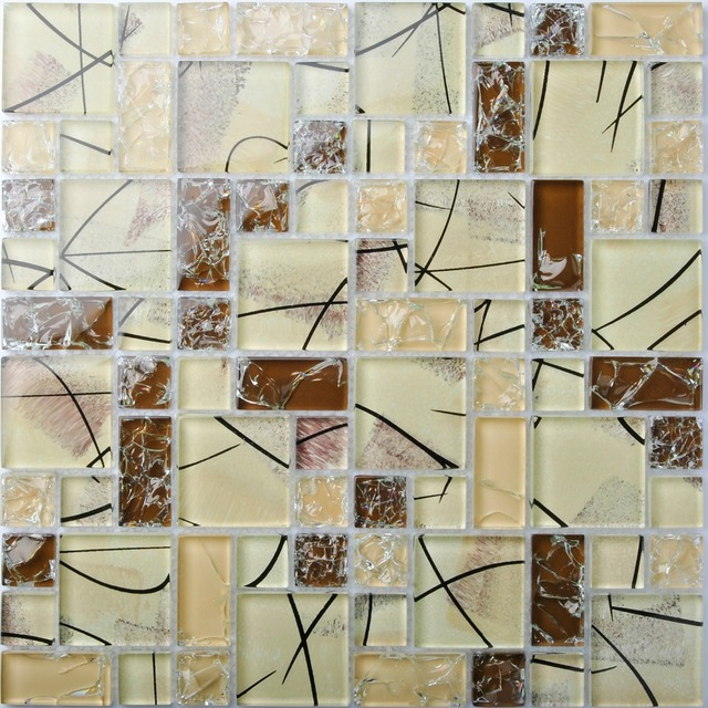 Tst Crystal Gl Tiles Brown Mosaic Tile Interior Le Artistic Design For Bathroom Kitchen Backsplash