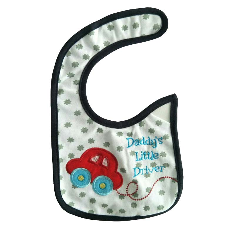 Hzirip Baby Bibs Cute Cartoon Pattern Toddler Baby Waterproof Saliva Towel Cotton Fit 0 3 Years