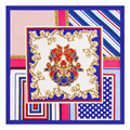 60 cm * 60 cm sarga de seda rayas geométricas pequeña señora bufandas de seda pequeña plaza