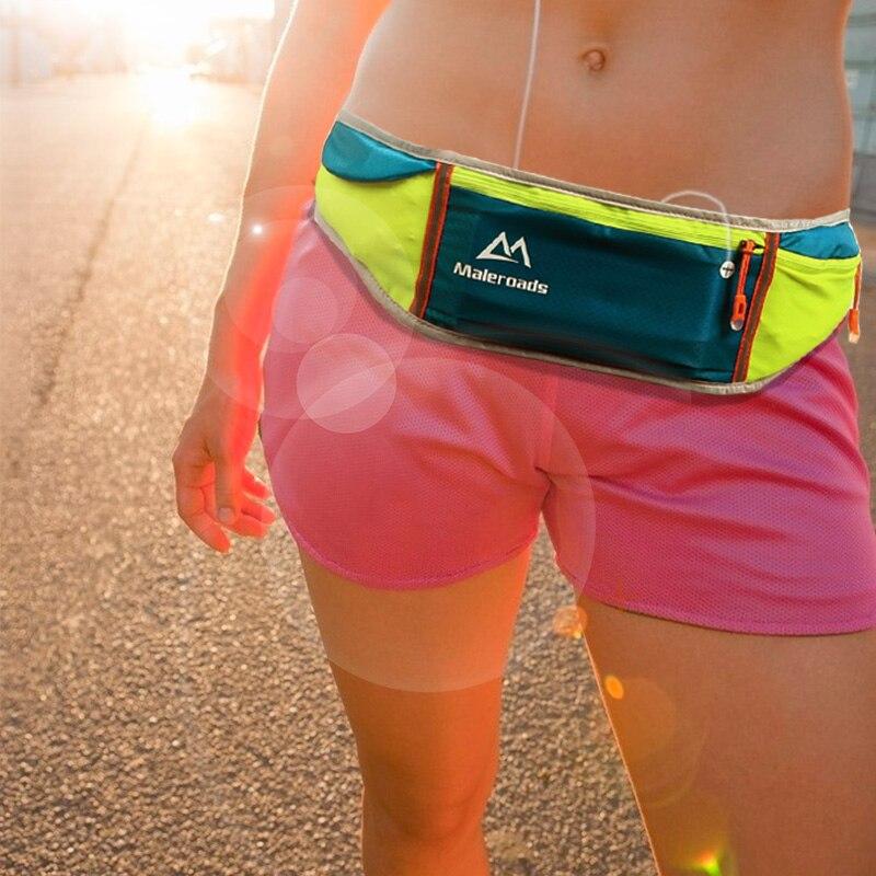 Hombres mujeres paquete de la cintura bolsas de deporte de fitness ejercicio de