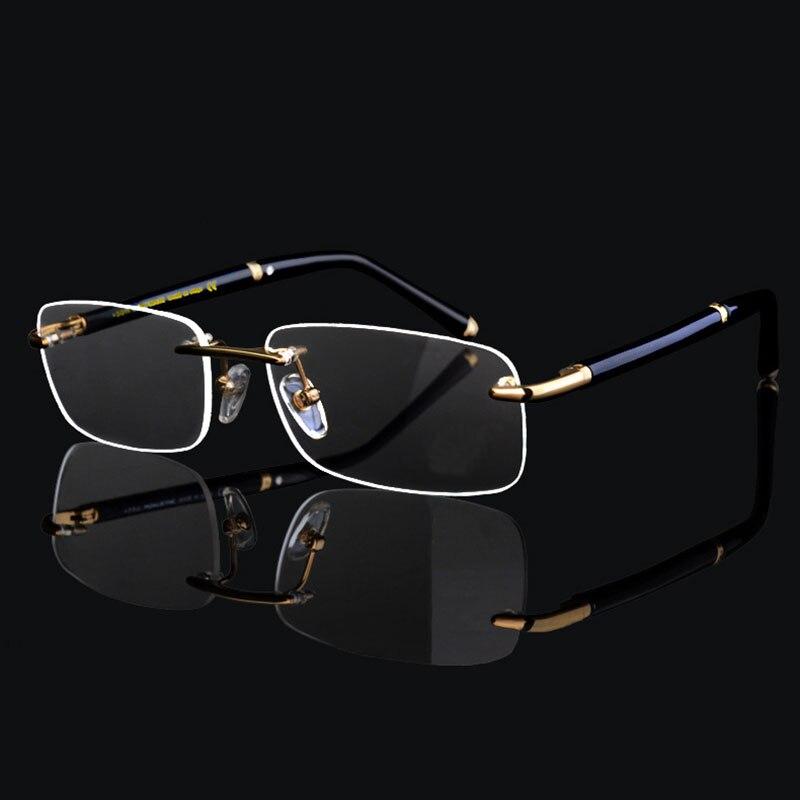 Bekleidung Zubehör Initiative Super Hohe Qualität Luxury Business Männer Randlose Brillen Rahmen Für Mann Eyewear Optischen Rahmen Gläser Gute QualitäT Herren-brillen