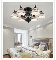 Krajem ameryki żelaza 3/6/8 lampy sufitowe oświetlenie do salonu lampa sypialnia schody przejściach i korytarzach biblioteka lampy sufitowe ZA928642