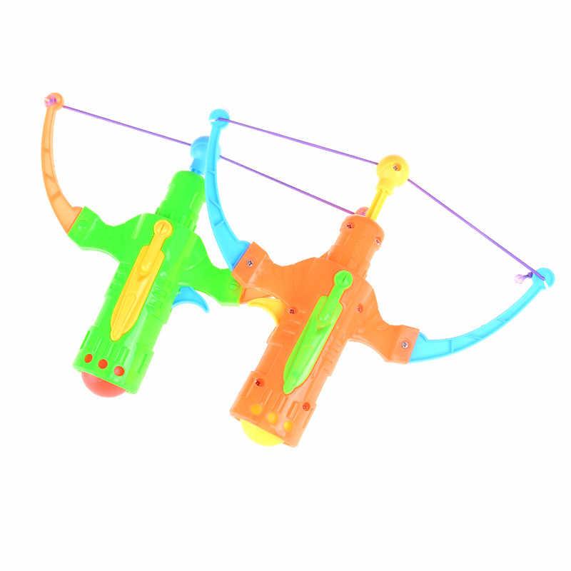 Slingshot 사냥 소년 장난감 화살표 탁구 총 활 양궁 플라스틱 공 플라잉 디스크 슈팅 장난감 야외 스포츠 어린이 선물