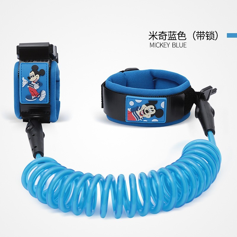 Disney Wrist Leash Baby Safety Walking Harness Anti Lost Adjustable Traction Rope Reminder Toddler Wristband Walk Anti-lost
