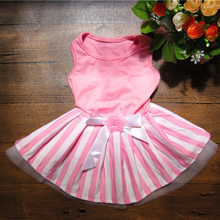 DogFad New Pet Dog Clothes for middle Small skirt Pink Dress Puppy Clothing Festival Evening Free Shipping