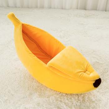 Yellow Banana Dog Bed