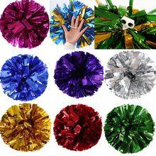 Для соревнований Чирлидинг Pom Poms цветочный шар металлическая фольга и пластиковое кольцо ручные принадлежности для занятий танцами вечерние товары