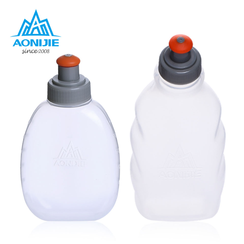 AONIJIE 170/250ml Outdoor Sport Bottle Hydro Soft Flask Running Hiking Camping Gym Fitness Bicycle Water Bag Canteen Kettle