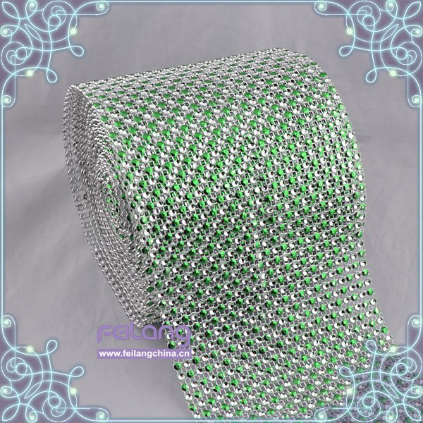 F871501 fashion rhinestone mesh roll rhinestone24rows erinite trimming plastic 10yards per roll CPAM free garment accessories