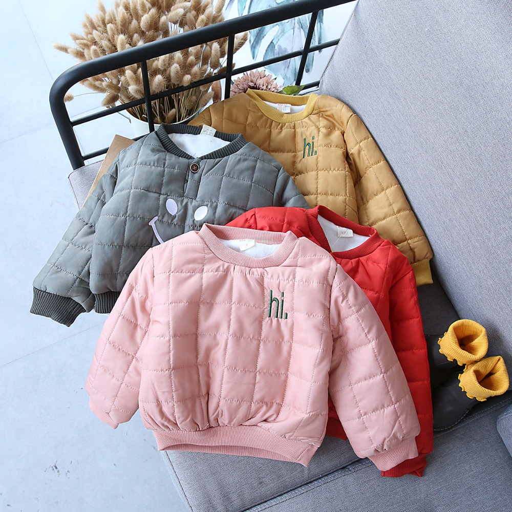 winter baby girls clothes boys jacket unisex warm sweaters for girls smile print baby clothes childrens sweatshirts for girls
