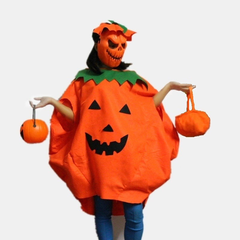 Women Men Pumpkin Costume Halloween Costume For Adult 2-Pieces Sets Pumpkin Party Cosplay Costume