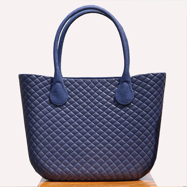 2019 New O.Bag Style Waterproof Classic Big Ambag EVA Bag with Cashmere felt Insert Lining leather handle