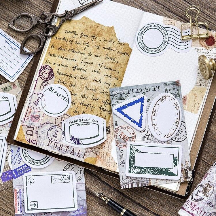 4PCS/Lot VINTAGE Passport Memo pad DIY Decoration Self-Adhesive Post it Stickers stationery School supplies 01939
