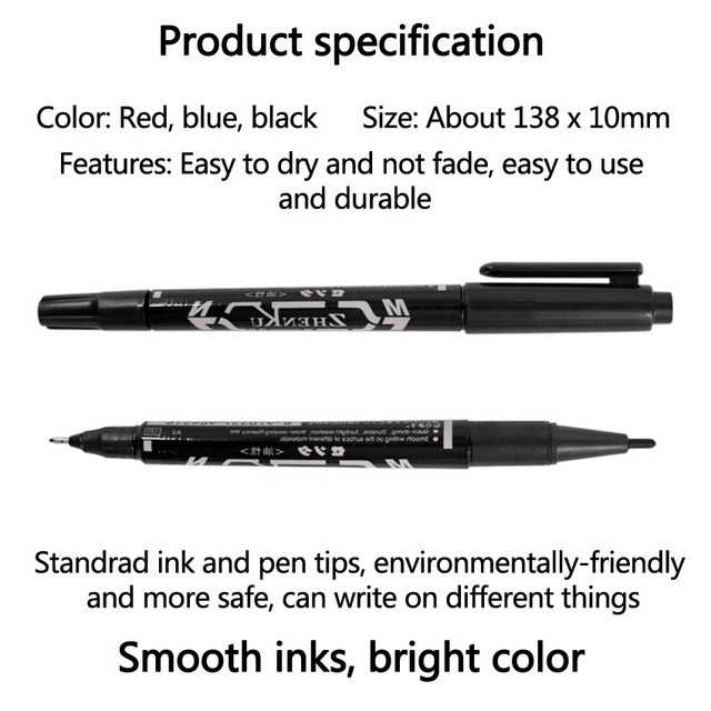 Tattoo Marker Pen Permanent Makeup Eyebrow Microblading Thin Scribe Tool Black/Red/Blue Optional Piercing Marker Position Supply 3