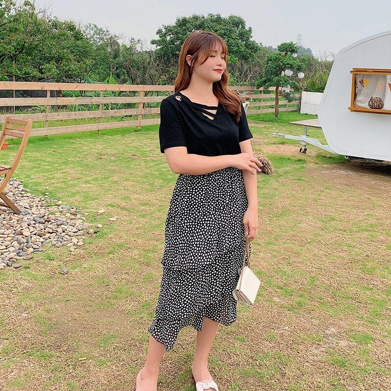 Korean version of plus size skirt cake skirt high waist skirt 2090 in Skirts from Women 39 s Clothing