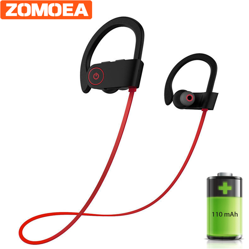 bluetooth headphones IPX6 waterproof wireless headphone sports bass earphone with mic earbuds for phone iPhone xiaomi headset цена