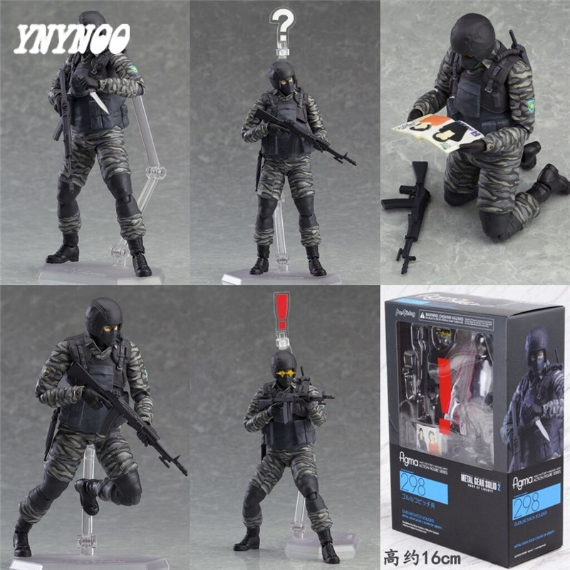 YNYNOO Toys figures Play Arts PVC Toys 16cm a sons of freedom Alloy equipments Metal Gear models toy soldiers Toys AF093 ancient knight 28pcs set soldiers and horses medieval model toy soldiers figures