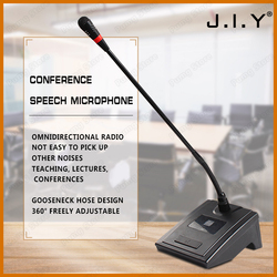 JIY Profession Condenser Wireless Gooseneck Microphone desktop High sensitivity capacitor Mic for School lecture speech meeting