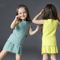 2017 Summer Casual Baby Girl Sets Tank Vest And Shorts Pants Candy Color 2pcs Princess Girl