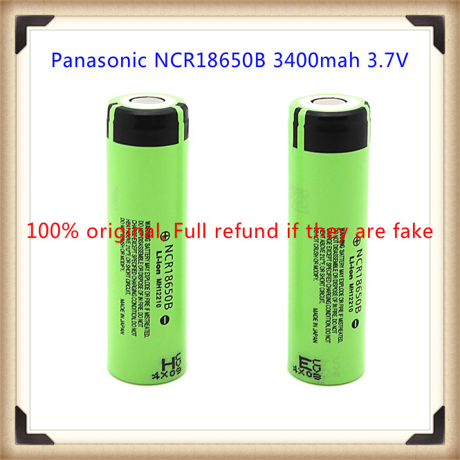 ᗕ100% original ncr18650b 3400 mAh 3.7 V batería recargable para ...
